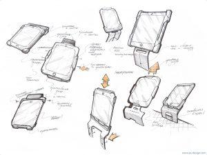 Концепт подставки для планшета